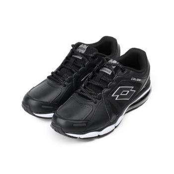 LOTTO 輕量皮面大氣墊跑鞋 黑 LT7AMR5330 男鞋