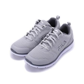 FILA 素色輕量跑鞋 中灰 1-J318S-440 男鞋