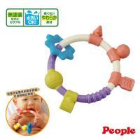 【日本People】環狀手搖鈴咬舔玩具