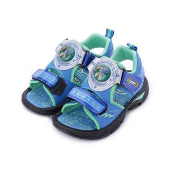 機器戰士 電燈魔鬼氈涼鞋 藍 TOKT86616 中大童鞋 鞋全家福