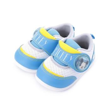 DISNEY 米奇魔鬼氈電燈鞋 藍 118119 中小童鞋 鞋全家福