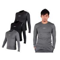 FIRESTAR 男緊身長袖T恤-慢跑 路跑 運動T恤