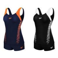SPEEDO BOOM SPLICE 女運動兩截式平口泳裝-游泳 戲水 泳衣