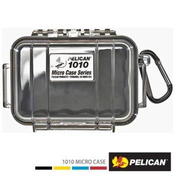 美國PELICAN1010MicroCase微型防水氣密箱-透明(黑)