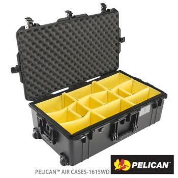 美國 PELICAN 1615AirWD 輪座拉桿超輕氣密箱-含隔板(黑)