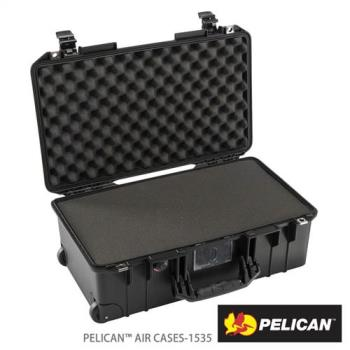 美國PELICAN1535Air輪座拉桿超輕氣密箱-含泡棉(黑)