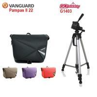 VANGUARD Pampas II 彭巴二代 22 攝影側背包+Gosteady G1403腳架特惠組