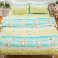 kokomos扣扣馬 鎮瀾宮大甲媽授權精梳棉205織紗新式兩用被單人床包被套組-兔子湯姆