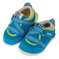 《布布童鞋》日本IFME淺藍Z型經典寶寶機能學步鞋(13~15公分)P8E066B