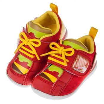 《布布童鞋》Moonstar日本歡樂甜品屋紅色寶寶機能學步鞋(13~14.5公分)I8D022A