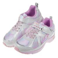 《布布童鞋》Moonstar日本銀白粉柔愛心輕量兒童機能運動鞋(19~23公分)I8K051M