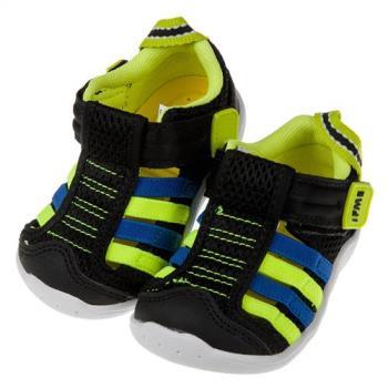 《布布童鞋》日本IFME黑色寶寶機能水涼鞋(13~14.5公分)P8A400D
