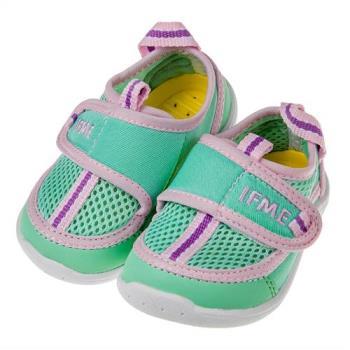 《布布童鞋》日本IFME淺綠色寶寶機能運動水涼鞋(13~14.5公分)P8G355C