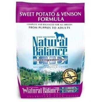 【Natural Balance】 低敏系列 無榖地瓜鹿肉 全犬糧 4.5磅 x 1包