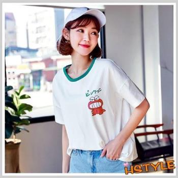 T恤 圓領卡通印花短袖T恤DL11537-創翊韓都