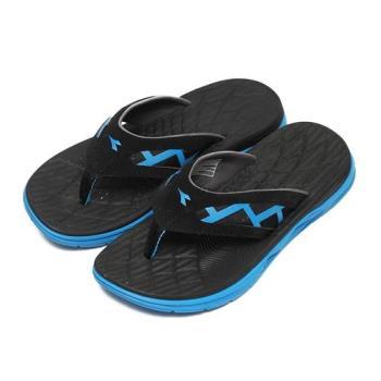 DIADORA 輕量無重力運動拖鞋 黑 男鞋