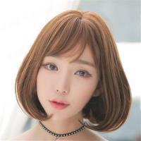 【米蘭精品】短假髮整頂假髮-中分內彎梨花頭短直髮女假髮4色73rr38