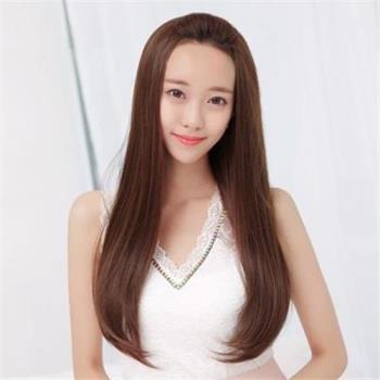 【米蘭精品】長假髮假髮片-梨花頭長直髮內彎半頭套女假髮3色73rr42