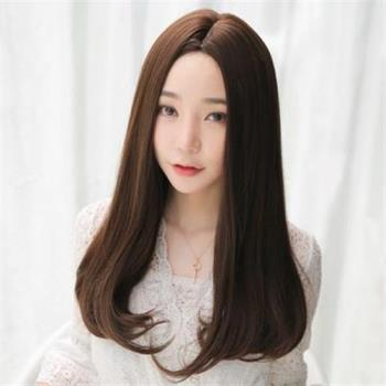 【米蘭精品】長假髮整頂假髮-中分內彎及胸長直髮女假髮73rr50