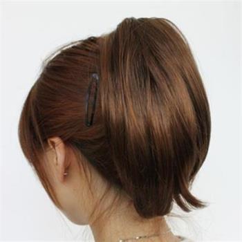 【米蘭精品】短假髮假馬尾-隱形抓夾式內彎短髮女假髮3色73rr53