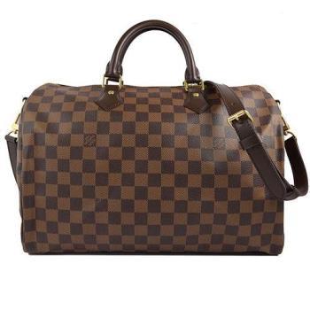 Louis Vuitton LV N41366 N41182 Speedy 35 棋盤格紋附背帶手提包(附銷組) 現貨