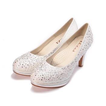 LUZZI 滿鑽新娘鞋 珍珠白 女鞋 鞋全家福