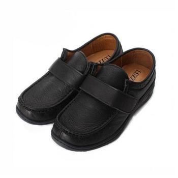 LUZZI 真皮魔鬼氈素面休閒鞋 黑 女鞋 鞋全家福