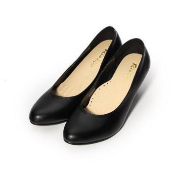 Rin Rin 素面小尖頭高跟鞋 黑 女鞋 鞋全家福
