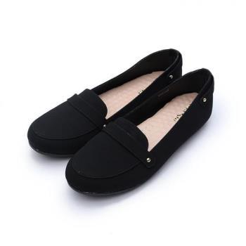Rin Rin 典雅橫帶樂福鞋 黑 女鞋 鞋全家福