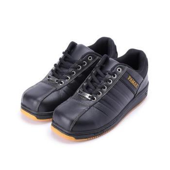 PAMAX 綁帶寬楦耐油鋼頭鞋  黑 女鞋 鞋全家福