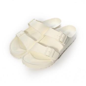 ARRIBA 輕量腳床雙帶拖鞋 白 男鞋 鞋全家福