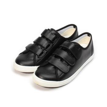 GIOVANNI VALENTINO  仿皮百搭休閒鞋 黑 女鞋 鞋全家福