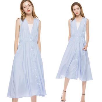 歐風KEITH-WILL  甜味浪漫造型V領洋裝