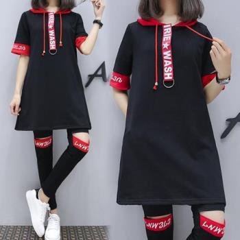 韓國KW  嬌顏綻放連帽造型套裝