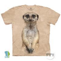 摩達客 (預購)(男童/女童裝)美國進口The Mountain 微笑狐獴像 純棉環保藝術中性短袖T恤
