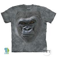 摩達客 (預購)(男童/女童裝)美國進口The Mountain 酷笑猩猩臉 純棉環保藝術中性短袖T恤