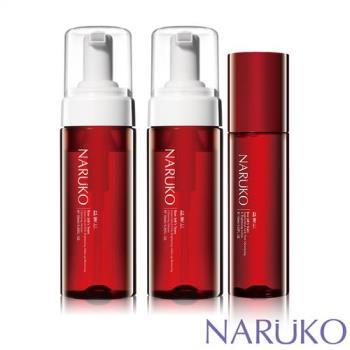 NARUKO 牛爾 紅薏仁超臨界毛孔美白洗卸兩用慕絲 2入+超臨界毛孔美白露