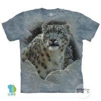 摩達客 (預購(大尺碼4XL/5XL))美國進口The Mountain 雪花豹 純棉環保藝術中性短袖T恤
