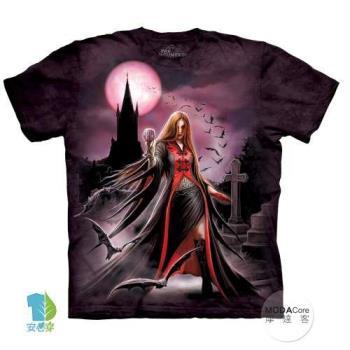 摩達客 (預購)(大尺碼3XL)美國進口The Mountain 萬聖血月女巫 純棉環保藝術中性短袖T恤