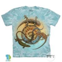 摩達客     大 3XL 美國 The Mountain 蜥蜴圖騰 純棉環保藝術中性短袖T恤
