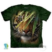 摩達客     大 3XL 美國 The Mountain 林中之虎 純棉環保藝術中性短袖T恤