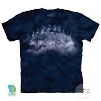 摩達客     大 3XL 美國 The Mountain 月狼環 純棉環保藝術中性短袖T恤