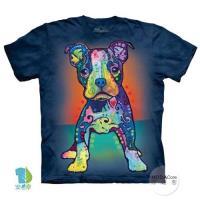 摩達客     大 3XL 美國 The Mountain 彩繪小㹴犬 純棉環保藝術中性短袖T恤