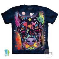 摩達客     大 3XL 美國 The Mountain 彩繪杜賓犬 純棉環保藝術中性短袖T恤