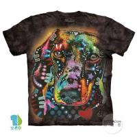 摩達客     大 3XL 美國 The Mountain 彩繪臘腸犬 純棉環保藝術中性短袖T恤