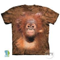 摩達客    美國 The Mountain 小紅毛猩猩 純棉環保藝術中性短袖T恤