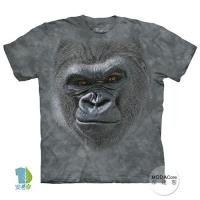 摩達客     美國 The Mountain 酷笑猩猩臉 純棉環保藝術中性短袖T恤