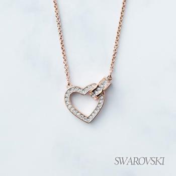 【SWAROVSKI】施華洛世奇 LOVELY 傾心項鍊-(玫瑰金色)