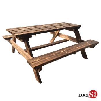 LOGIS~多用原木庭園桌椅 啤酒桌 戶外桌椅 烤肉桌 BBQ 露營桌【12BEER】