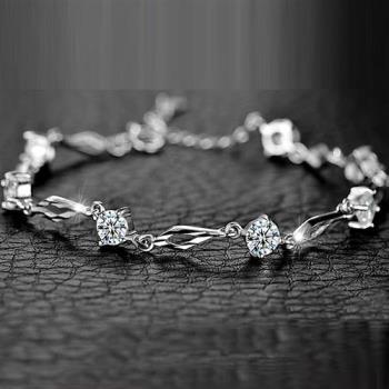 DINA JEWELRY蒂娜珠寶  典雅情緣 925純銀CZ鑽手環 (GH92106)